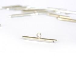 Silberfarbene Endkappen für gewebte Perlenarmbänder - 20 mm