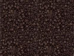 Röhrchen mit 1.100 Rocailleperlen - Miyuki Delica's 11/0 - dunkelbraun, Nr. 734
