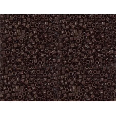 Miyuki Delicas 11/0 - dark brown, no. 734