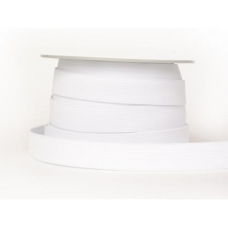 1m élastique 20mm - Blanc 01
