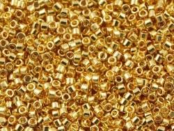 Röhrchen mit 1.100 Rocailleperlen - Miyuki Delica's 11/0 - verzinktes Gold, Nr. 1832
