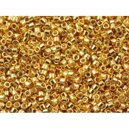 Acheter Miyuki Delicas 11/0 - Duracoat opaque galvanised gold 1832 - 4,40€ en ligne sur La Petite Epicerie - Loisirs créatifs