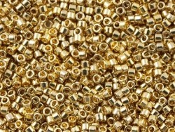 Röhrchen mit 1.100 Rocailleperlen - Miyuki Delica's 11/0 - champagnerfarbenes Gold, Nr. 1834