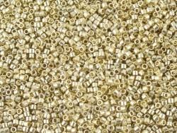 Röhrchen mit 1.100 Rocailleperlen - Miyuki Delica's 11/0 - hellgold, Nr. 1831