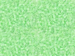 Röhrchen mit 1.100 Rocailleperlen - Miyuki Delica's 11/0 - hellgrün, Nr. 237