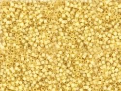 Röhrchen mit 1.100 Rocailleperlen - Miyuki Delica's 11/0 - goldbeige, Nr. 2186