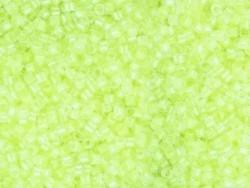 Röhrchen mit 1.100 Rocailleperlen - Miyuki Delica's 11/0 - neongelb, Nr. 2031