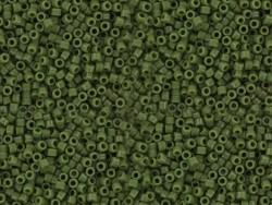 Röhrchen mit 1.100 Rocailleperlen - Miyuki Delica's 11/0 - avocadogrün, Nr. 1135