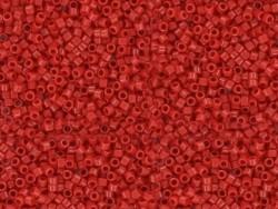 Röhrchen mit 1.100 Rocailleperlen - Miyuki Delica's 11/0 - rot, Nr. 723