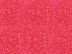 Röhrchen mit 1.100 Rocailleperlen - Miyuki Delica's 11/0 - mohnrot, Nr. 1308