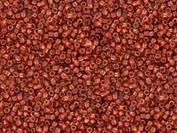 Röhrchen mit 1.100 Rocailleperlen - Miyuki Delica's 11/0 - Metallic-rot, Nr. 1838