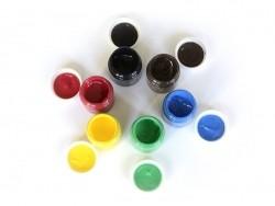 6 pots de peinture pour textile - Basique