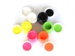 6 pots de peinture pour textile - Fluo