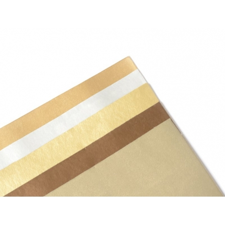 5 faux leather remnants in metallic colours
