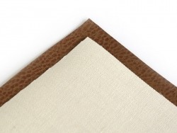 5 faux leather remnants in natural colours