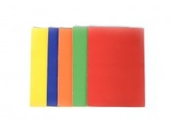 5 faux leather remnants in primary colours