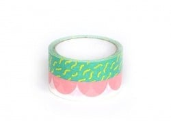 Super tape  33 m - Vert et Rose Rico Design - 1