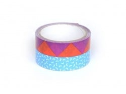 Super tape  33 m - Bleu et Violet Rico Design - 1
