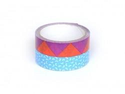 Super tape  33 m - Bleu et Violet