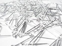 10 Kettelstifte - dunkelsilber - 25 mm