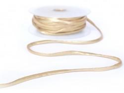 1 m of spaghetti ribbon (5 mm) - golden (colour no. 103)