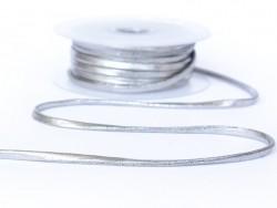 1 m of spaghetti ribbon (5 mm) - silver (colour no. 102)