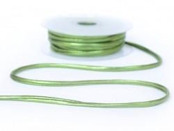 1 m of spaghetti ribbon (5 mm) - metallic green (colour no. 116)