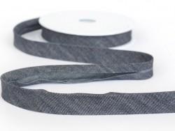 1 m of bias binding (20 mm) - denim (colour no. 023)