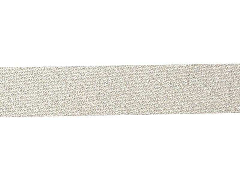 1 m of bias binding (20 mm) - silver-coloured (colour no. 02)