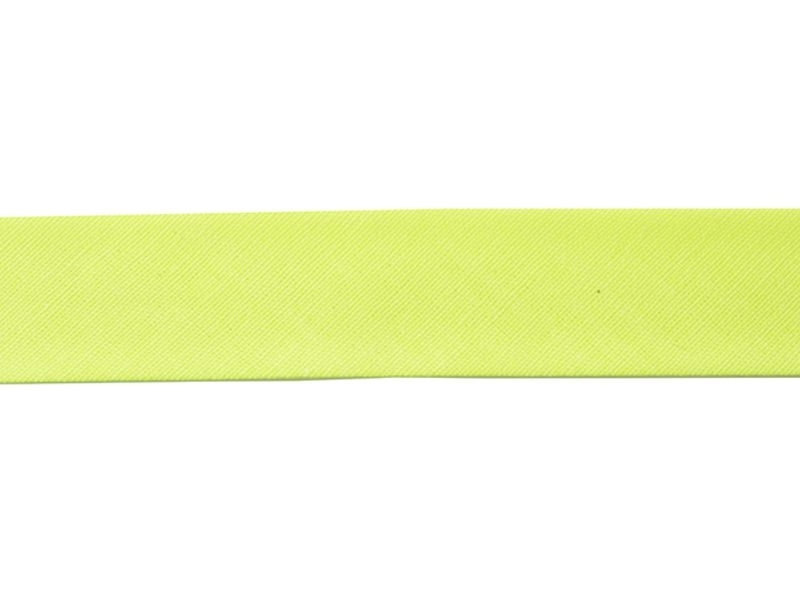 1 m of bias binding (20 mm) - neon yellow (colour no. 201)