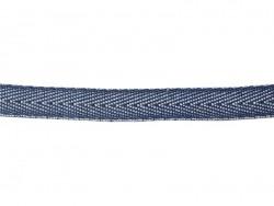 1m ruban tissé denim 10 mm - bleu foncé 023