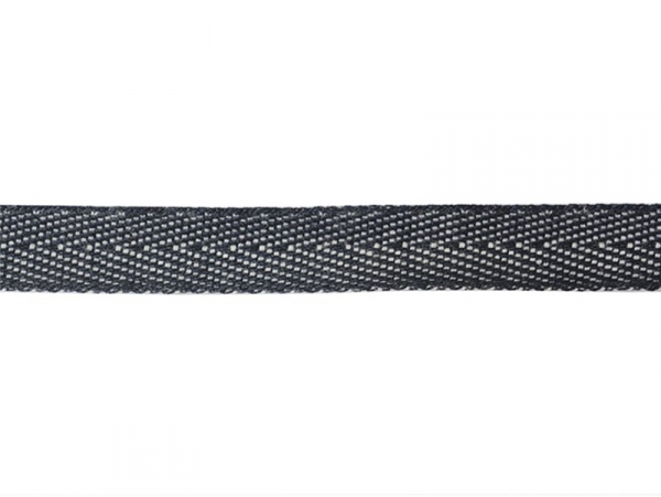 1 m of woven denim (10 mm) - navy blue (027)