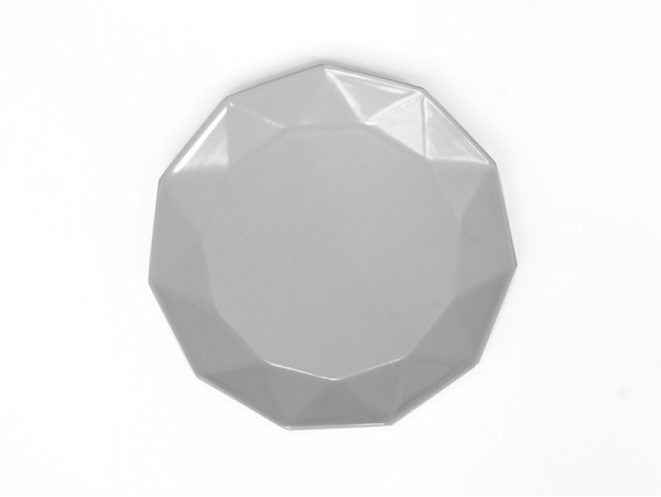 Melamine plate - grey