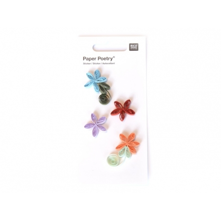 Quilling stickers - Flowers