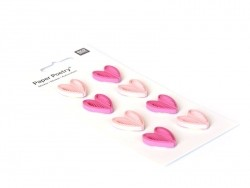 Stickers Quilling - Coeurs roses et fuchsia