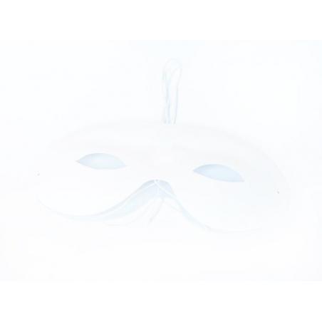 Masque en plastique arrondi à customiser