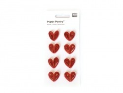 Stickers Quilling - Coeurs rouges