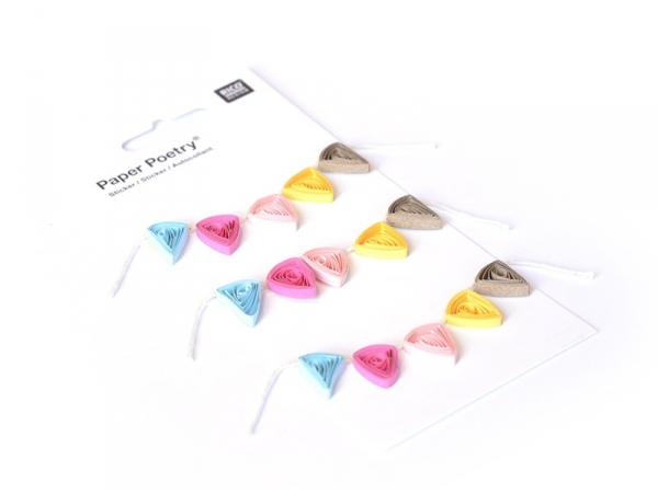 Quilling stickers - garlands