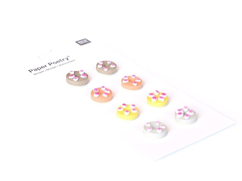 Quilling stickers - Donuts