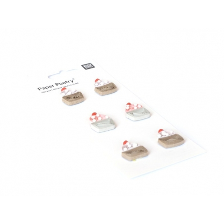 Quilling stickers - Cupcake