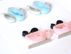 Quilling stickers - Tea time