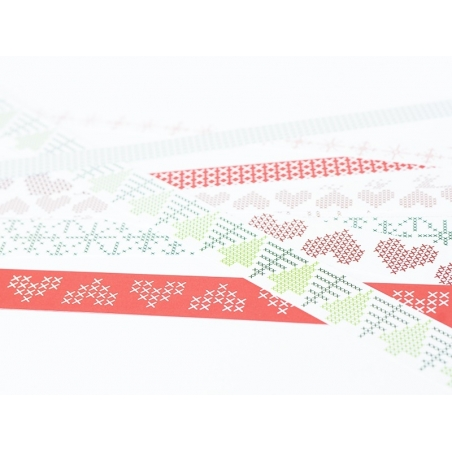 Origami paper strips - Christmas