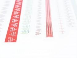 Origami-Papierstreifen - Weihnachtsmuster