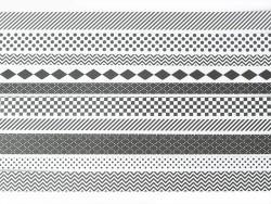 Origami-Papierstreifen - schwarz-weißes Graphikmuster