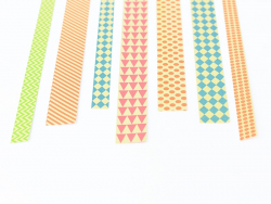 Origami paper strips - colourful graphic design