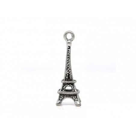 Acheter 1 breloque tour eiffel - couleur argent foncé - 0,39€ en ligne sur La Petite Epicerie - 100% Loisirs créatifs