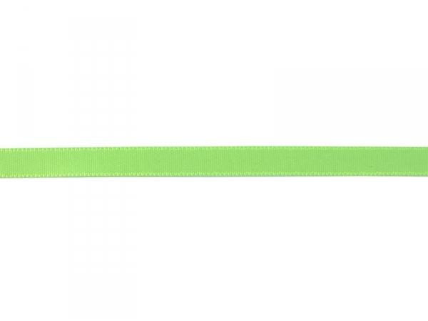 1 m ruban satin uni vert fluo 202 - 8 mm