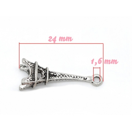 1 Eiffel Tower charm - dark silver-coloured