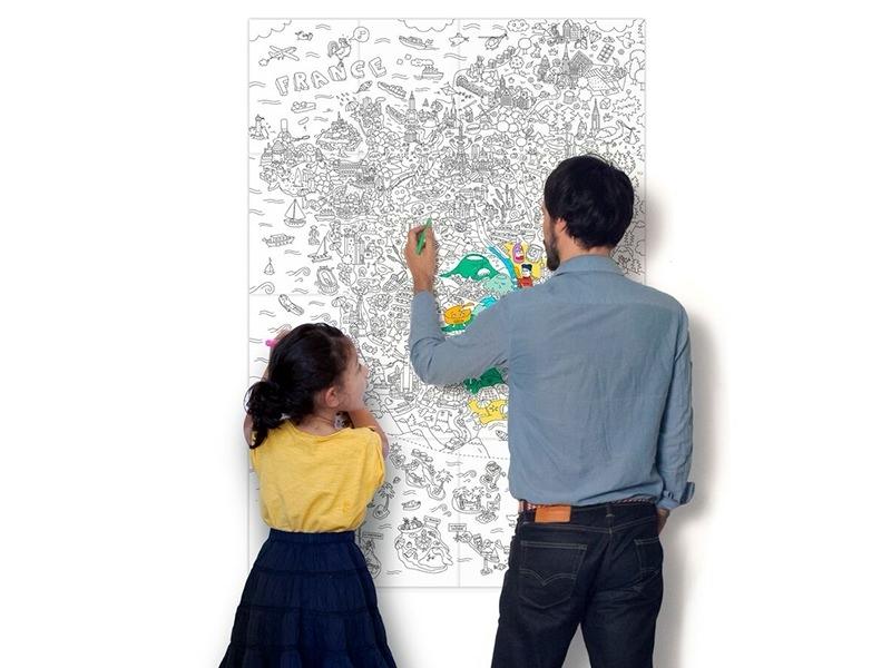 poster géant à colorier  - France