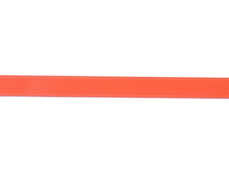 1 m of satin ribbon (8 mm) - neon coral red (colour no. 205)